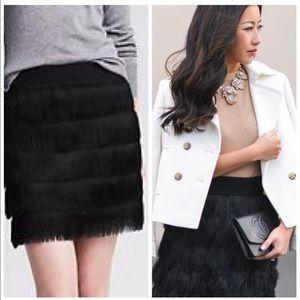 🆕 BANANA REPUBLIC Black Fringe Skirt